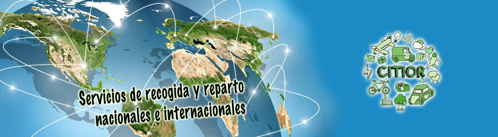Servicios de recogida y reparto nacionales e internacionales